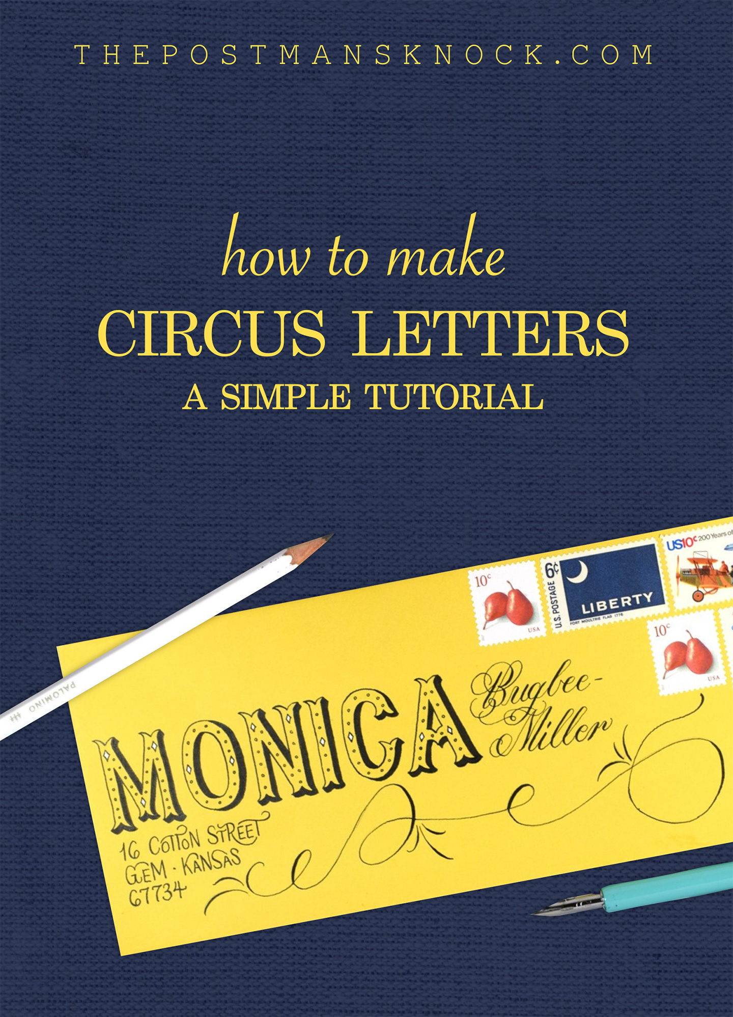 How to Create Circus Lettering | The Postman's Knock