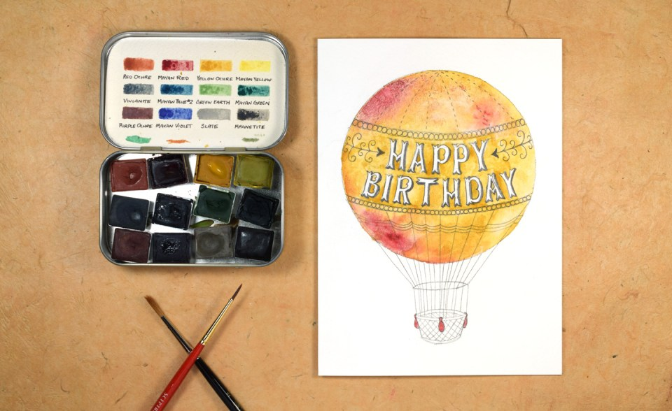 Hot Air Balloon Birthday Card Matching Envelope Tutorial The