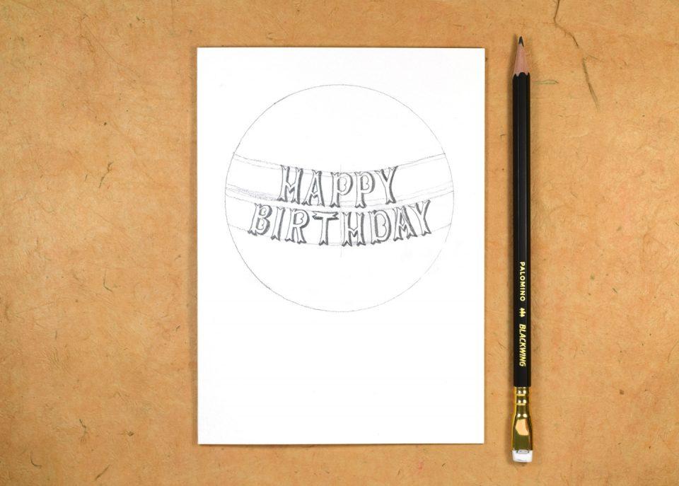 Hot Air Balloon Birthday Card + Matching Envelope Tutorial | The Postman's Knock