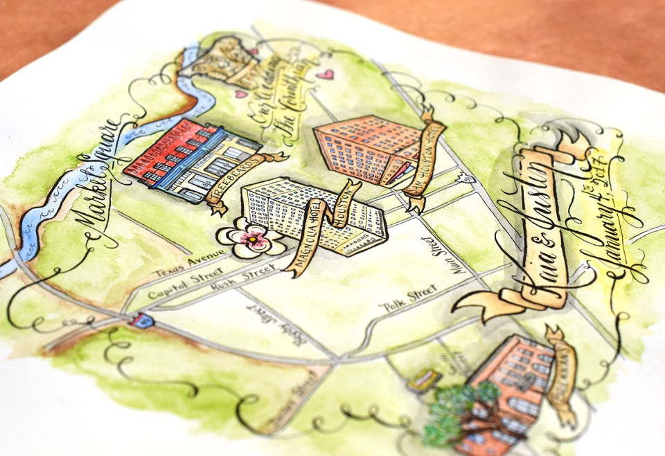 Watercolor Illustrated Map