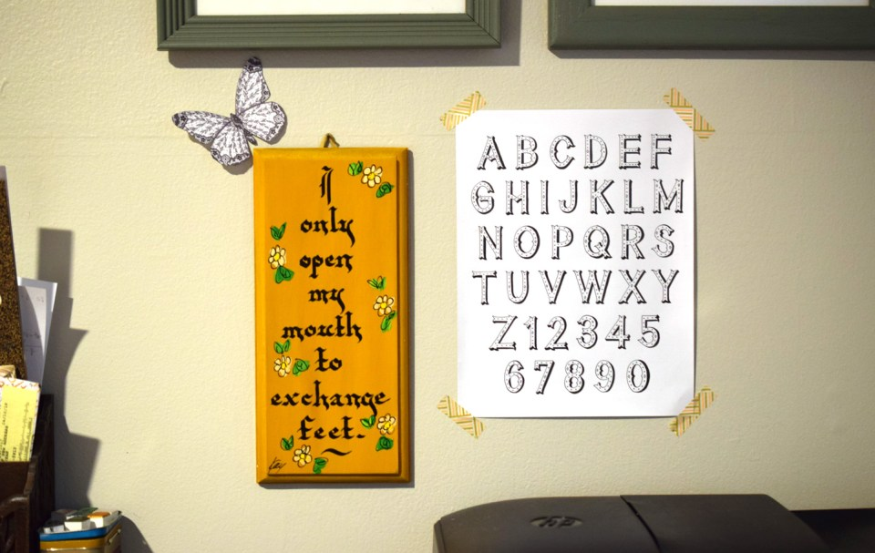 Simple Calligraphy Flourishing Tutorial | The Postman's Knock