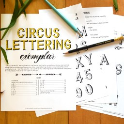 Circus Lettering Printable Exemplar + Video Tutorial | The Postman's Knock