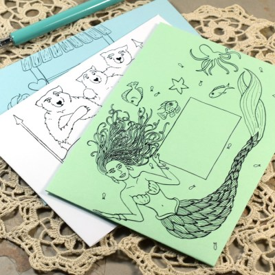 How to Make Your Own Printable Mail Art Envelopes