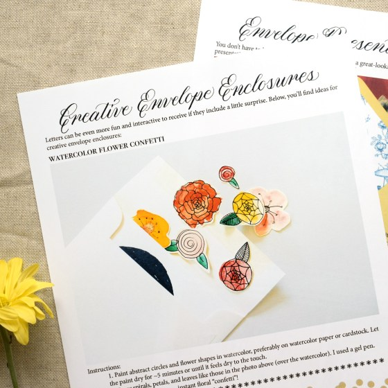 Get inspired with letter enclosure and presentation suggestions!