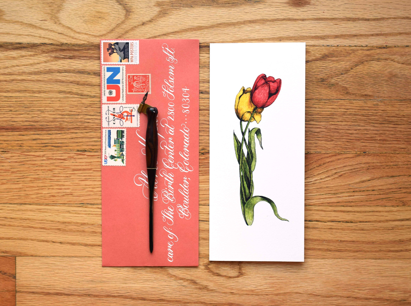 Thank You Card + Envelope | The Postman's Knock