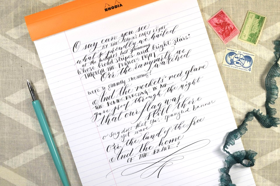 The Star Spangled Banner: Calligraphy + Lettering Edition YouTube Video   The Postman's Knock