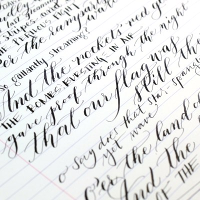 The Star Spangled Banner: Calligraphy + Lettering Edition YouTube Video