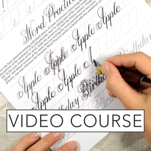 Janet Style Calligraphy Video Course | The Postman's Knock