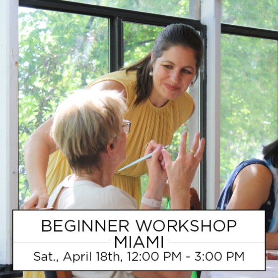I'd love to see you in Miami for the first TPK Beginner Calligraphy Workshop of the Year!