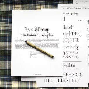 "This 8-page printable exemplar will teach you how to write ""Lasso Lettering"""