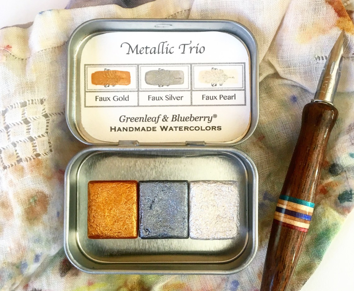Greenleaf & Blueberry Metallic Trio | The Postman's Knock