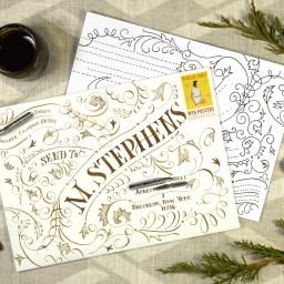 Typography Envelope Art Video Tutorial | The Postman's Knock