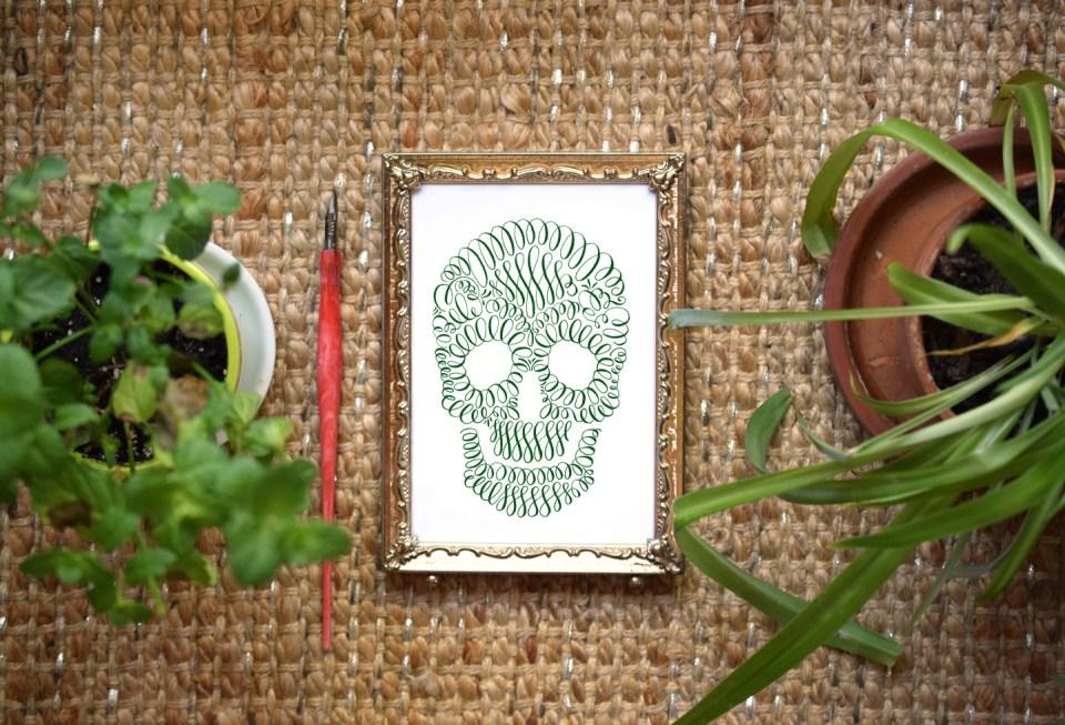 Flourished Calligraphy Artwork | The Postman's Knock