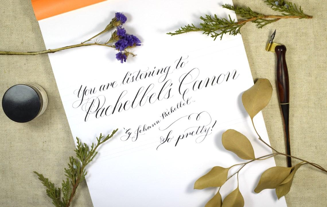 Pachelbel's Canon: Calligraphy Edition | The Postman's Knock