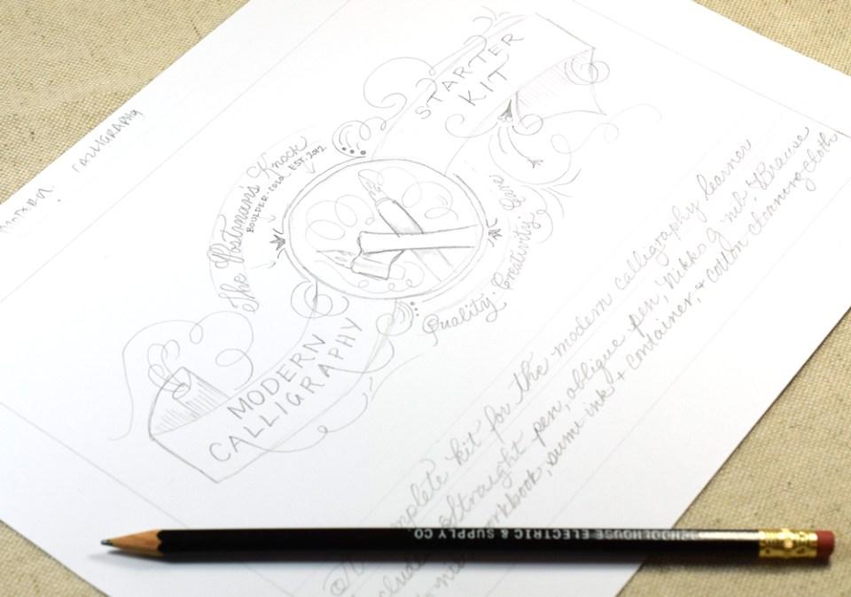 Calligraphy Kit Design | The Postman's Knock