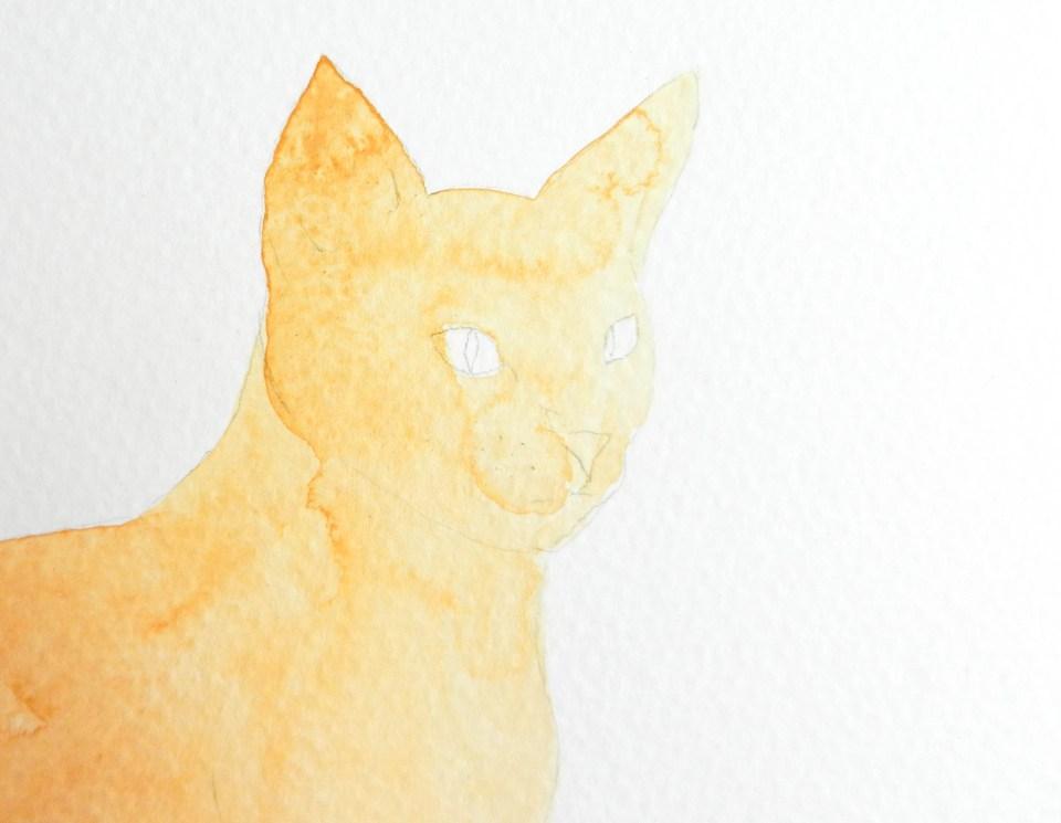 Watercolor Henna Cat Illustration Tutorial | The Postman's Knock
