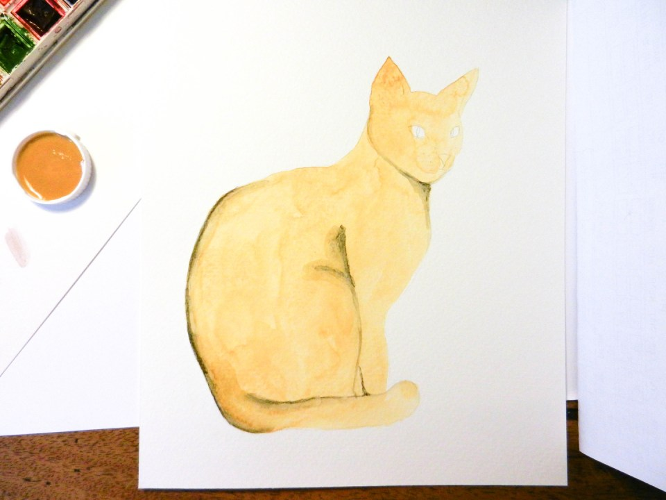 Watercolor Henna Cat Illustration Tutorial | The Postman's Knock