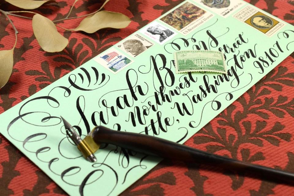 Envelope Created Using Brause Rose Nib | The Postman's Knock