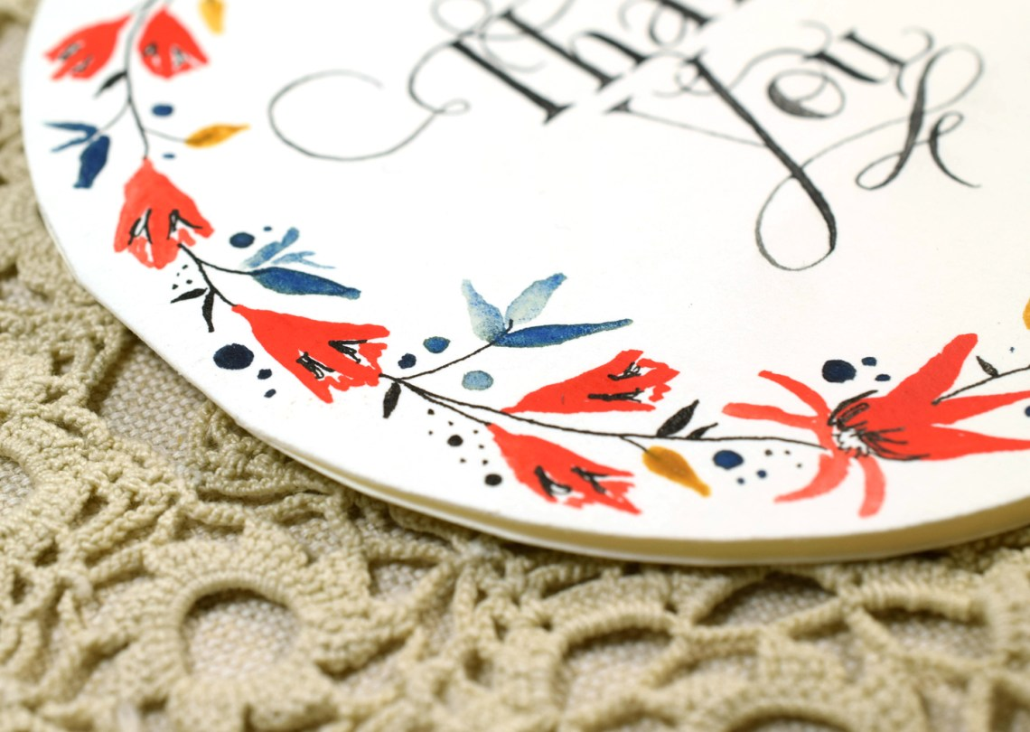 Circular Watercolor Thank You Card Tutorial | The Postman's Knock