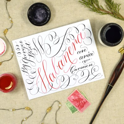 Habanera: A Musical Calligraphy Video