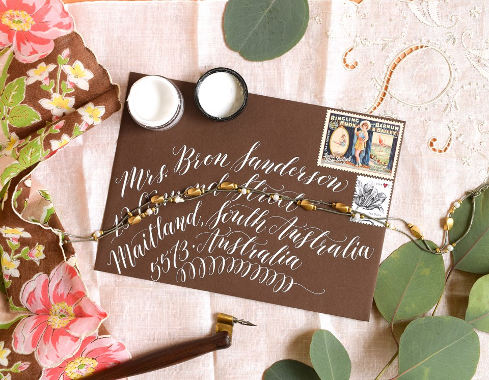 Kaitlin Style Calligraphy Envelope | The Postman's Knock