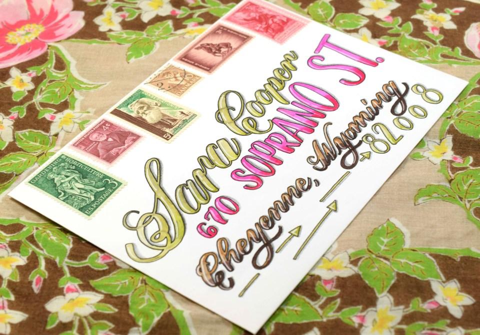 """Juicy"" Brush Pen Calligraphy Tutorial | The Postman's Knock"