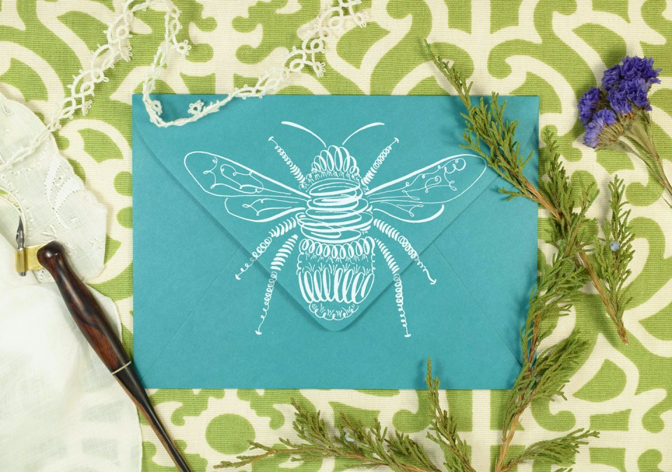 Free Printable Instructions - Flourished Bee Calligraphy Tutorial | The Postman's Knock