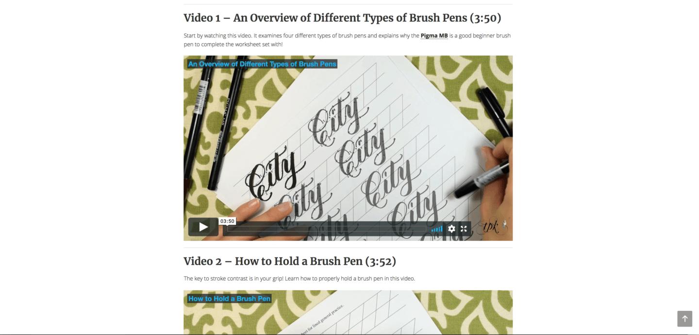 TPK Janet Style Brush Pen Videos