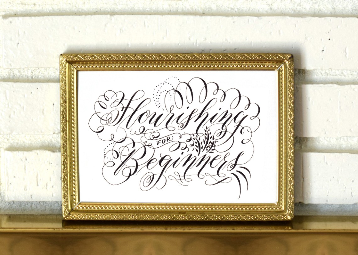 Calligraphy Flourishing for Beginners + Free Worksheet   The Postman's Knock