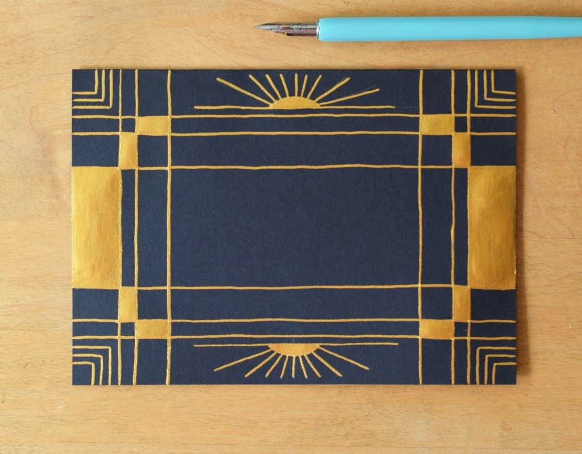 Art Deco Birthday Card Tutorial | The Postman's Knock