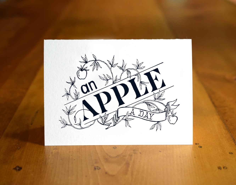 An Apple a Day Card   The Postman's Knock