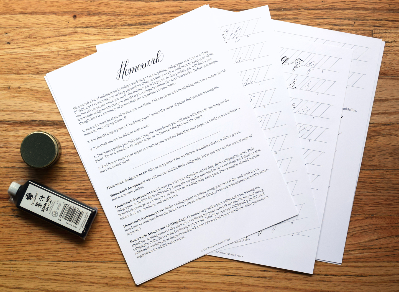 TPK Modern Calligraphy Beginner's Workshop Homework