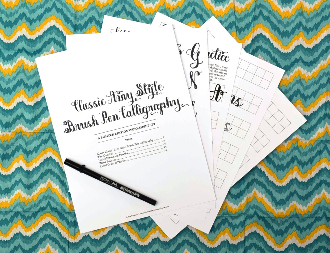 SURPRISE: This Brush Pen Worksheet is Only Available for One Week! | The Postman's Knock