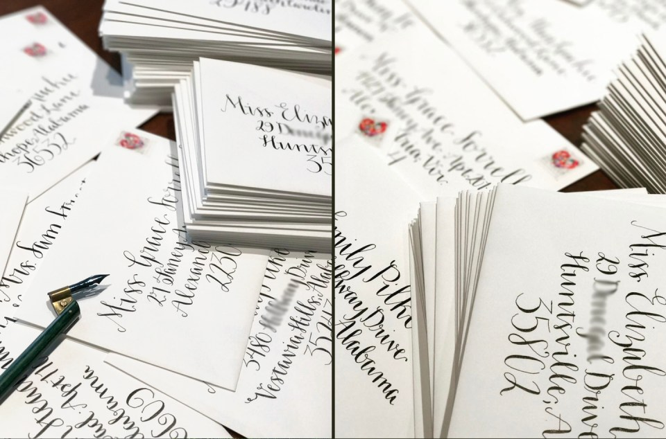 Amy Style Calligraphy Envelopes | The Postman's Knock