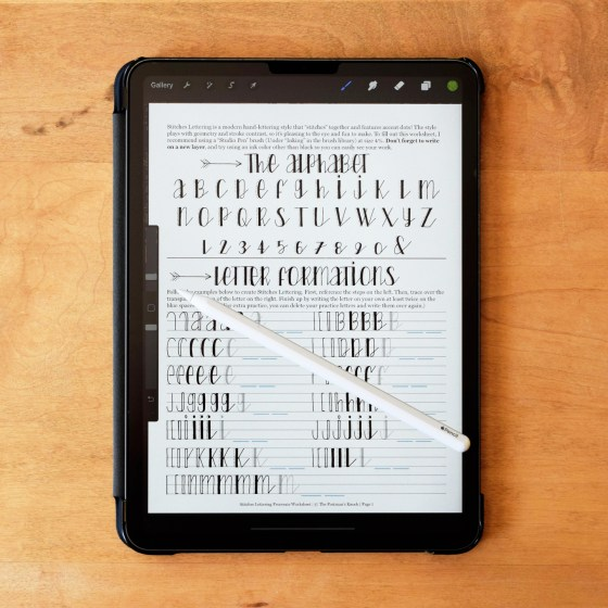 This five-page worksheet will teach you how to create Stitches Lettering -- all from the convenience of your iPad!