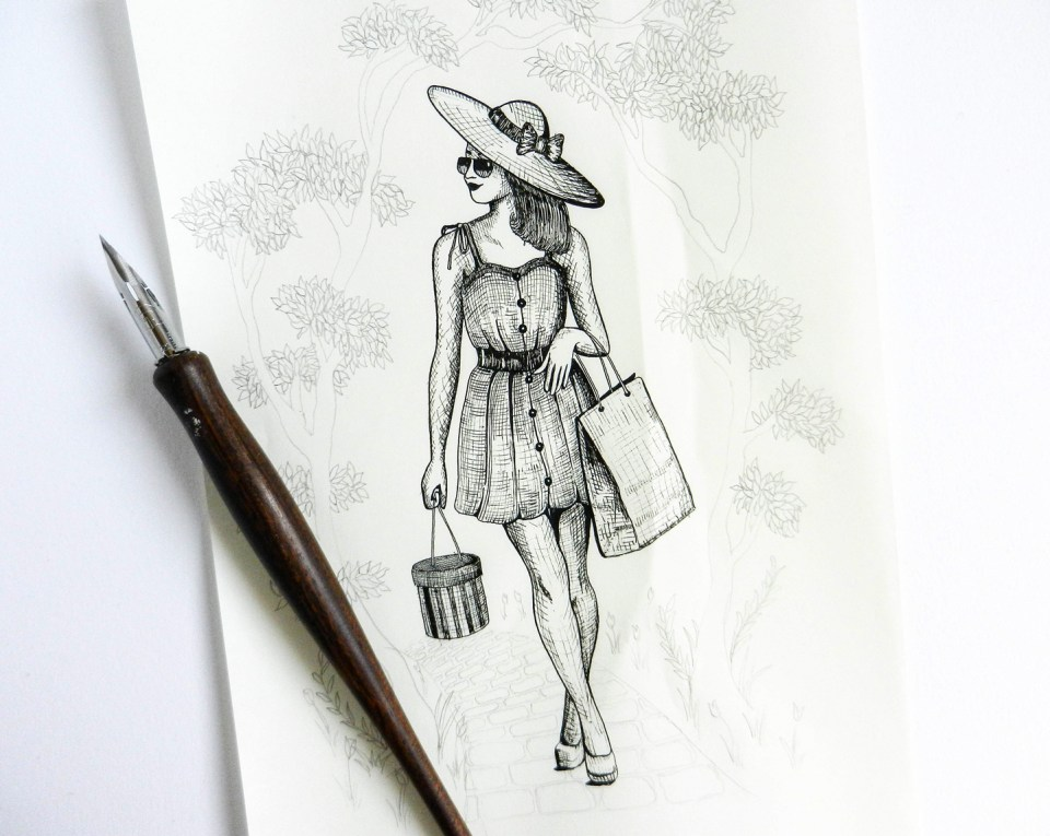Springtime in Paris Illustration | The Postman's Knock