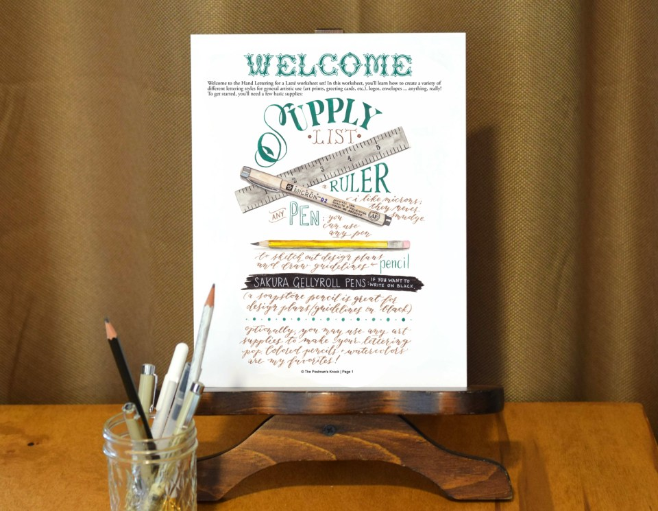 TPK's Hand Lettering Worksheet Set