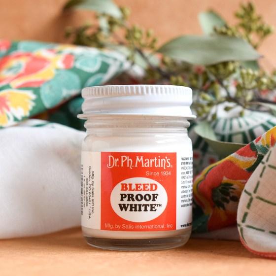 Dr. Ph. Martin's Bleed Proof White is TPK's favorite white ink!