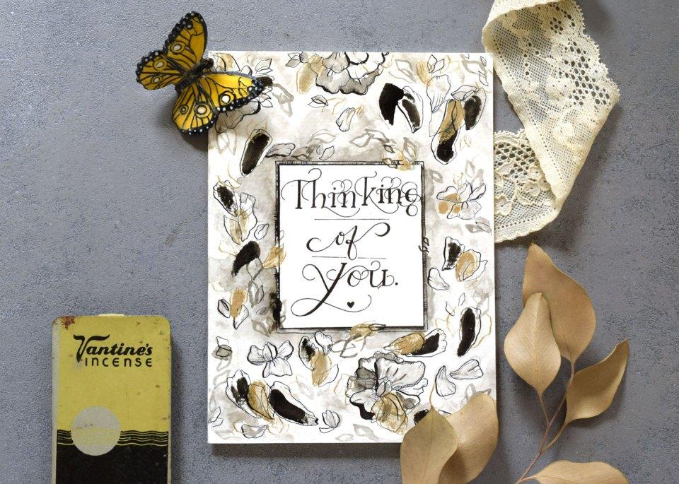 An elegant + tasteful sympathy card!