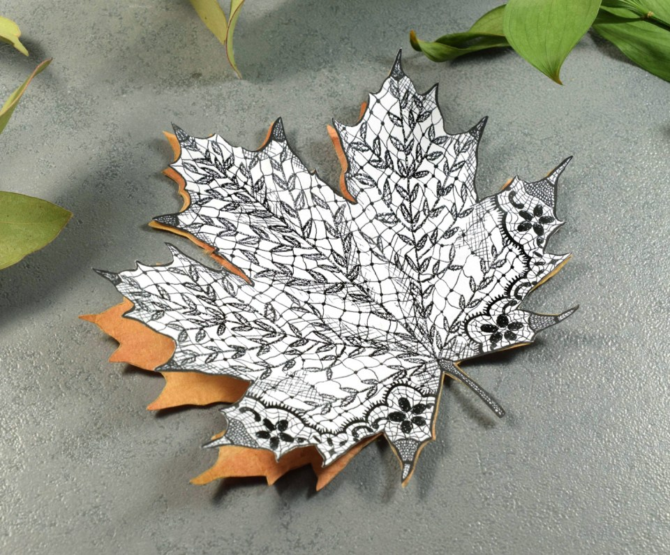 Lacy Maple Leaf Autumn Card Tutorial