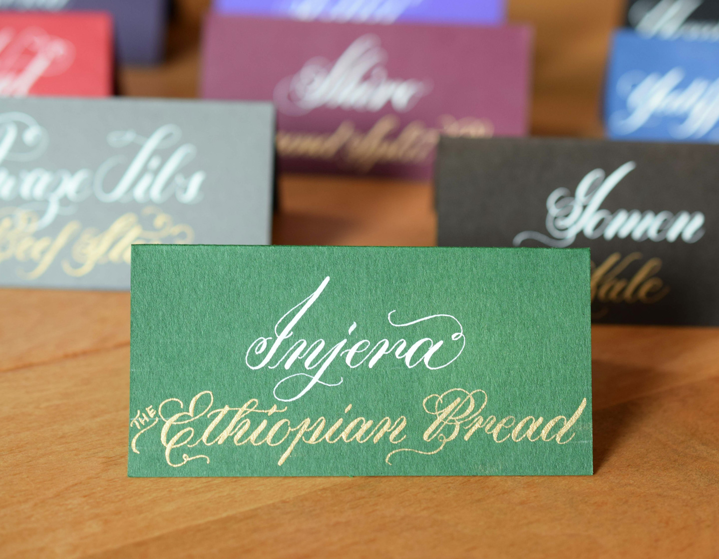 Ethiopian Place Cards | The Postman's Knock