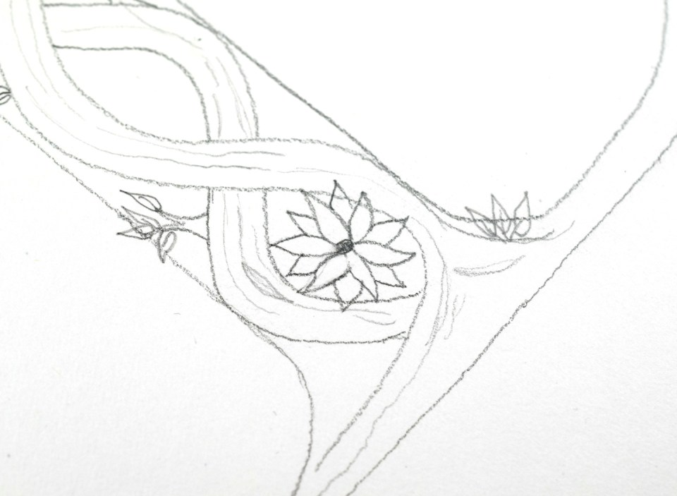 Drawing Flower 1: Step 2