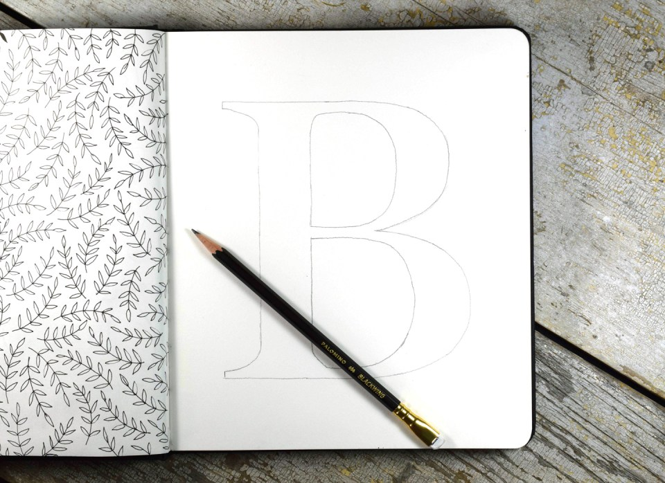 "Traced Letter ""B"""