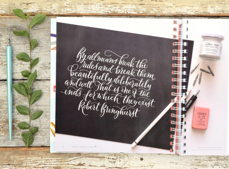 "Quote from ""Mastering Modern Calligraphy"""