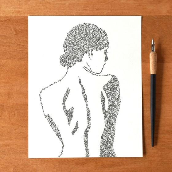 A Midsummer Night's Silhouette Art Print