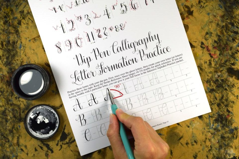 Calligraphy Nib Angle