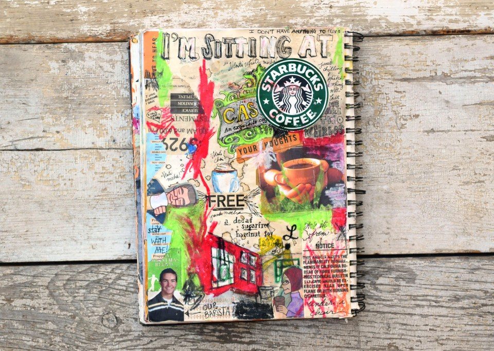 Starbucks Sketchbook Page