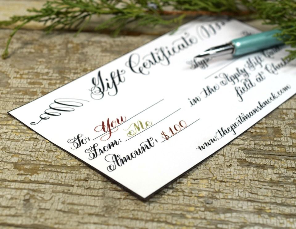 $100 TPK Gift Certificate