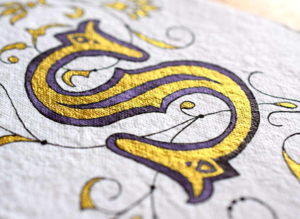 The Cheater's Illuminated Letter Tutorial