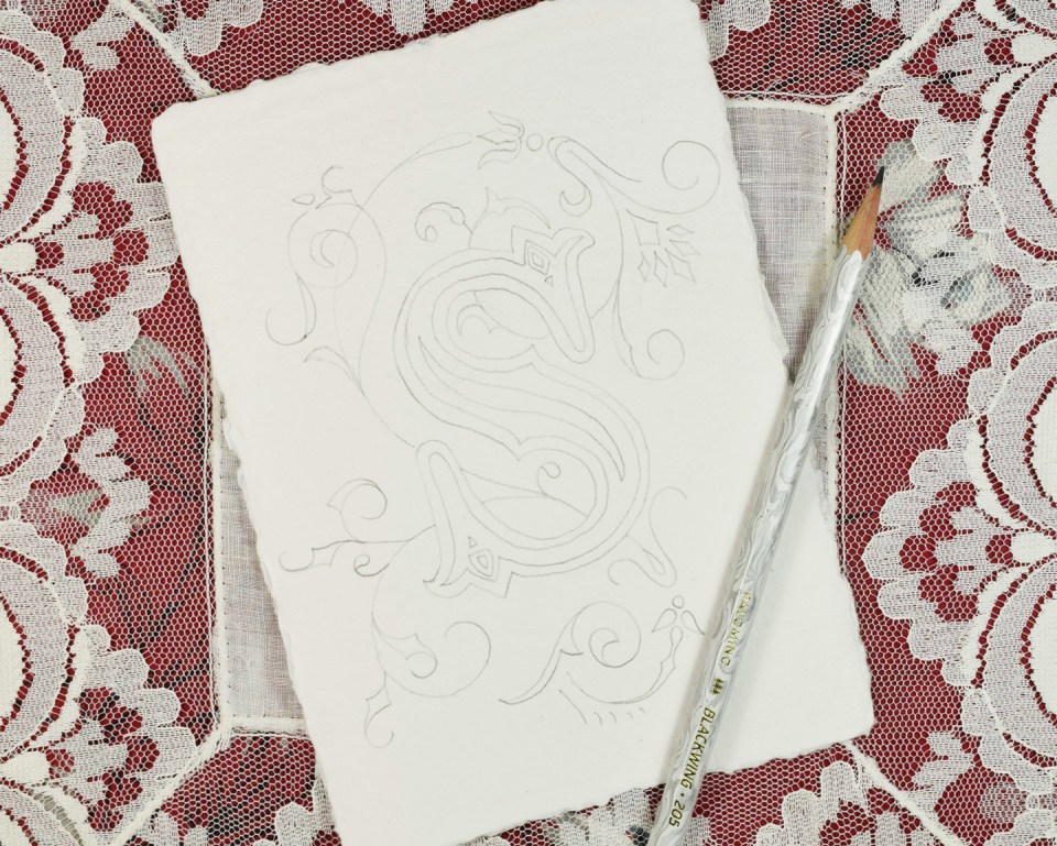 Illuminated Letter Pencil Draft